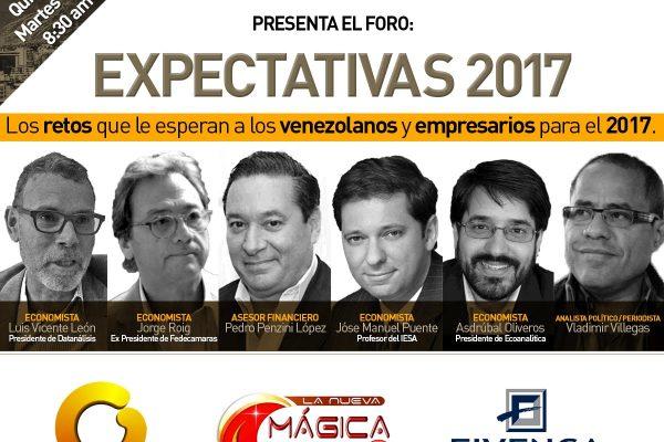 Presentan foro Expectativas 2017: Los retos que esperan a venezolanos y empresarios