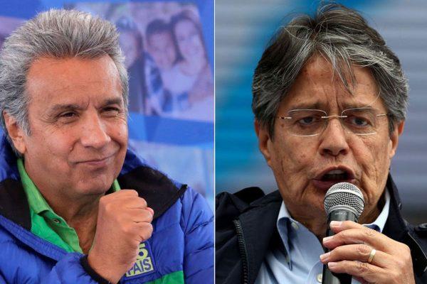Ecuador: Oficialista Moreno y opositor Lasso definirán presidencia en abril