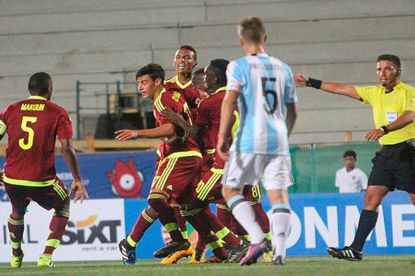 Venezuela ganó 1-0 a Argentina en Sudamericano Sub-17