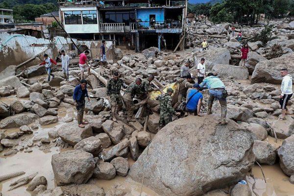 Al menos 254 muertos por desbordamiento de ríos en Colombia