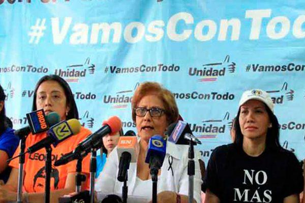 La MUD convocó a la marcha de la mujeres este sábado
