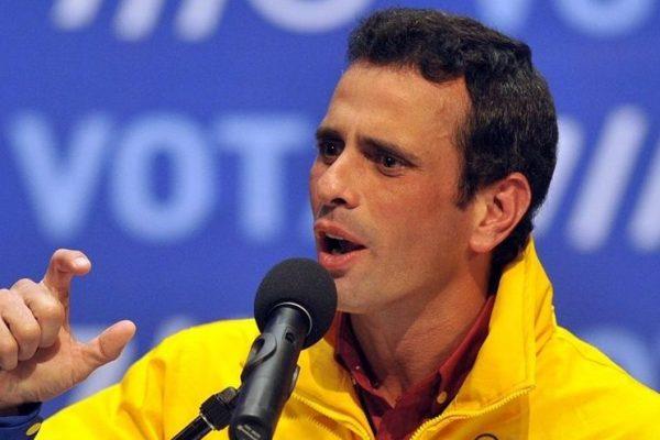 Henrique Capriles advierte que un «mapa rojo» el 21-N perjudicará las negociaciones en México