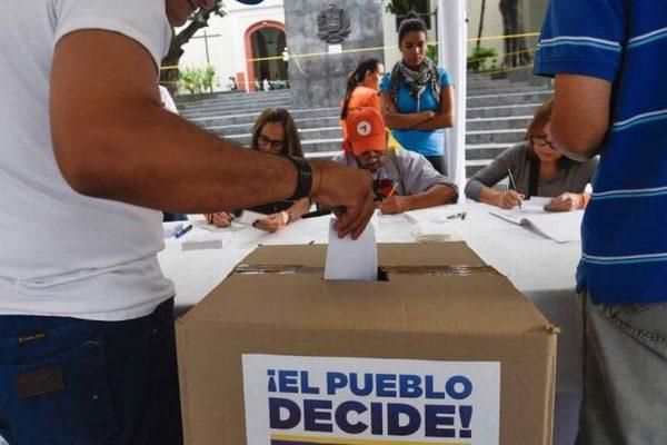 Consulta popular contó con la participación de 7.186.170 venezolanos