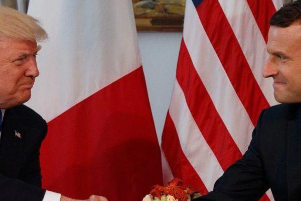 Trump y Macron insisten que son buenos amigos tras disputa