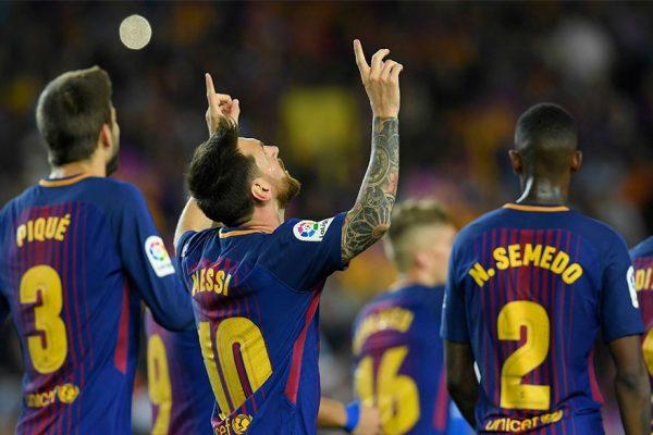 Triplete de Messi comandó goleada del Barcelona contra el Espanyol