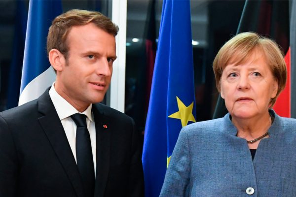 Frente unido de Merkel y Macron en Berlín contra Trump