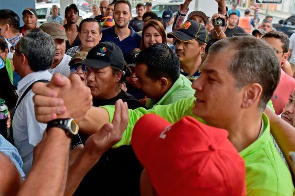 Expresidente Correa regresa a Ecuador para medir fuerzas