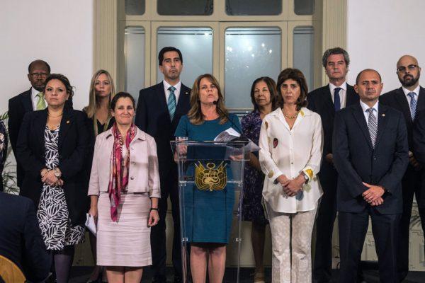 Grupo de Lima llama a consulta a sus embajadores en Venezuela