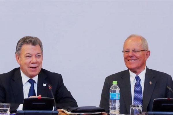 Santos y Kuczynski hablarán sobre Venezuela en gabinete binacional