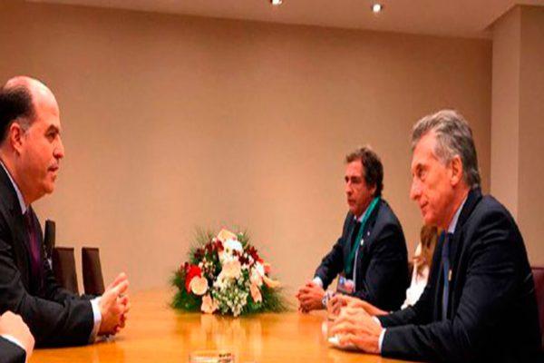 Julio Borges se reunió con Macri para hablar sobre Venezuela