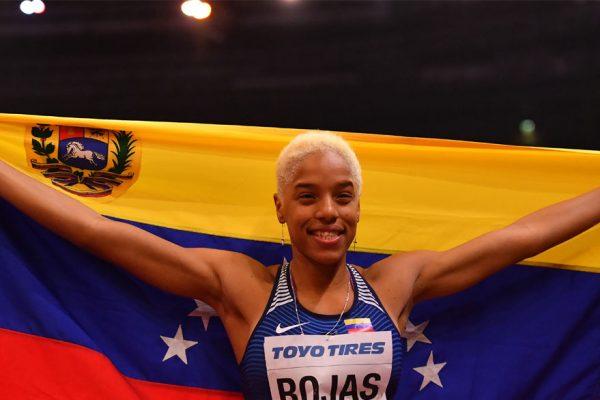 Yulimar Rojas batió su propia marca de triple salto en Francia