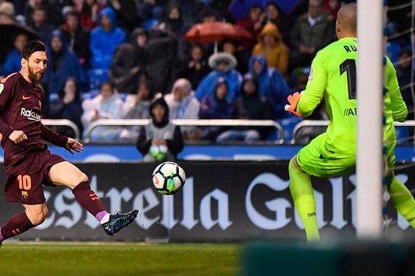Barcelona se consagra campeón de la liga española al vencer a Deportivo La Coruña