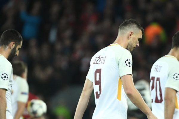 Acciones de La Roma se desploman tras goleada del Liverpool