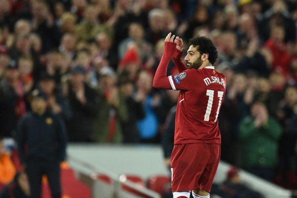 Liverpool le gana 5-2 a la Roma con dobletes de Salah y Firmino