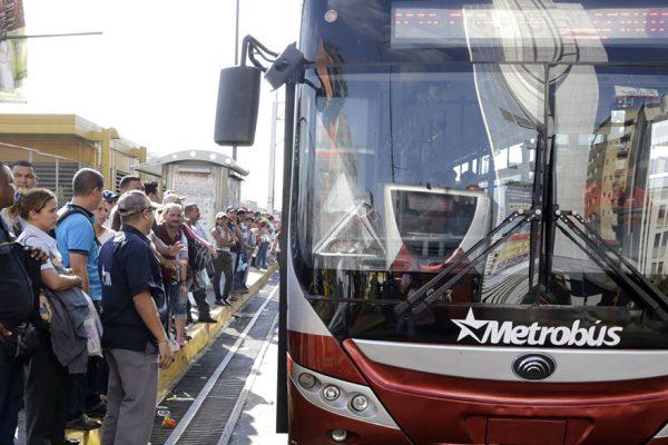Reactivadas rutas de Metrobus en la Gran Caracas