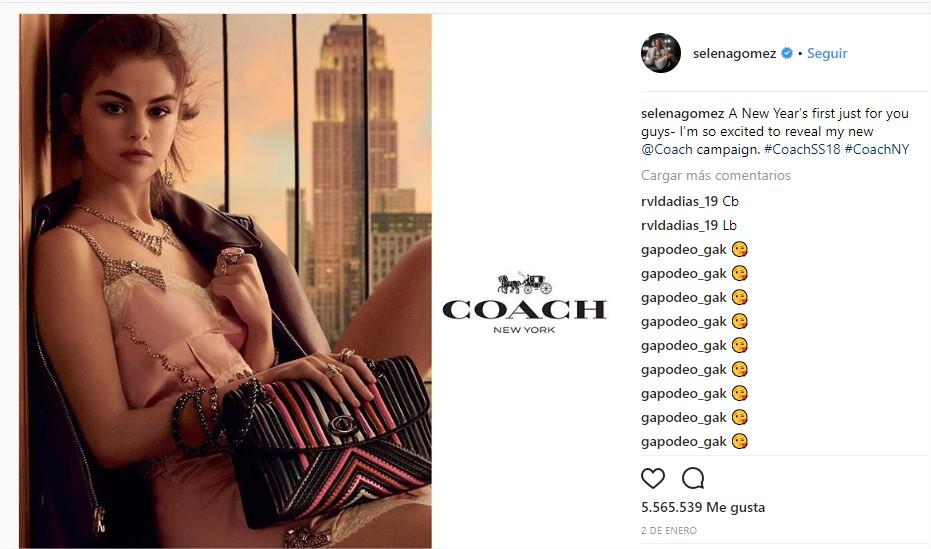 Selena Gomez en Instagram