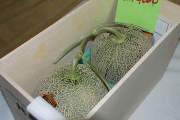 Dos melones vendidos por un récord de $29.000 en Japón