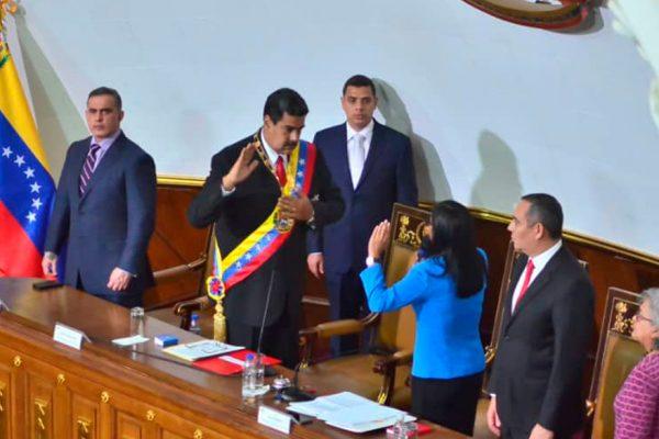 Maduro se juramenta ante la AN para el periodo 2019-2025