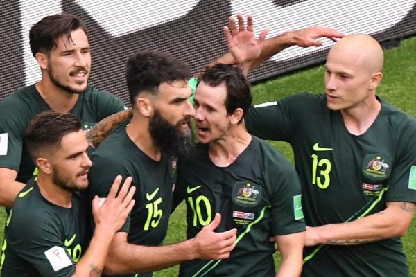 Australia logra empate 1-1 ante Dinamarca en el Mundial