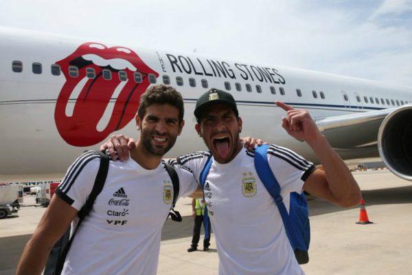 Argentina llega a Rusia en avión de los Rolling Stones