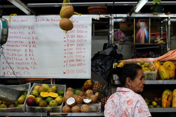 Cesta Petare de alimentos básicos subió 6,01% a Bs.9.170.000 o US$20,60