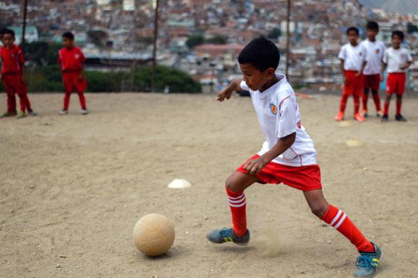 Catia, la cuna de futbolistas que sueña con futuros mundialistas