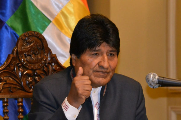 Morales encabeza con 38% preferencia electoral en Bolivia