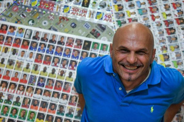 Gianni Bellini, el mayor coleccionista de cromos de fútbol