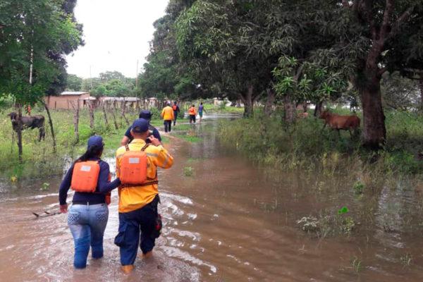Unas 250 viviendas afectadas por inundaciones en Monagas