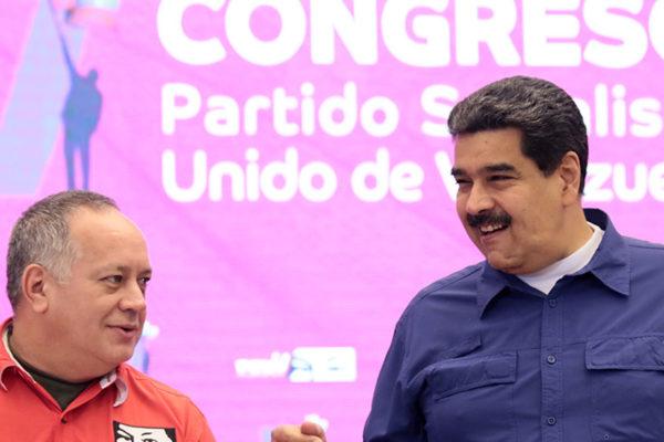 Maduro y Cabello ratificados al frente del PSUV