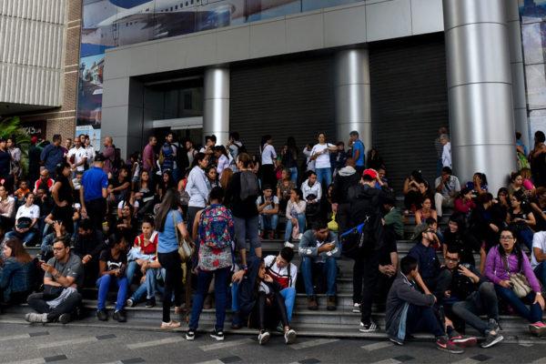 Apagón generó caos de transporte y comunicaciones en Caracas