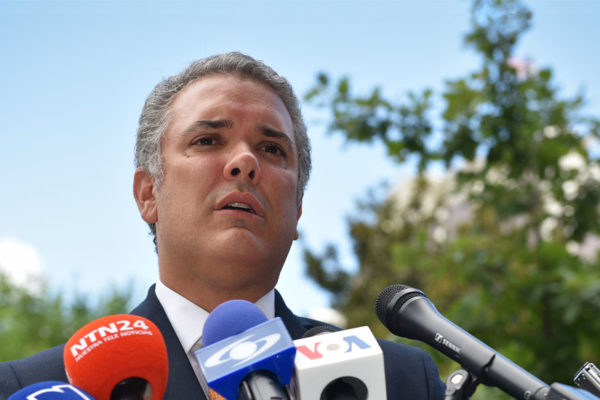 Iván Duque denunció en EE.UU apoyo de Maduro a Hezbolá