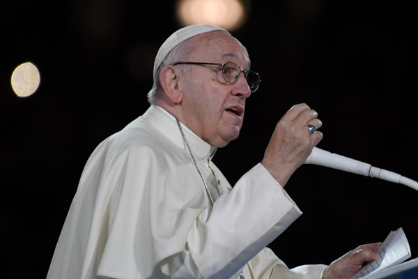 El Papa en su