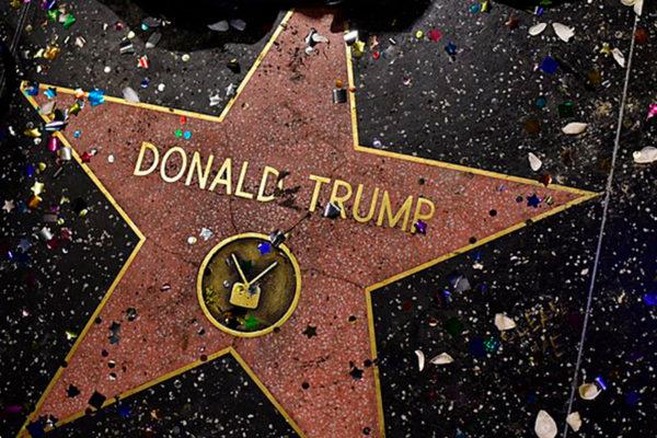 Piden retirar estrella de Trump en el paseo de la fama de Hollywood
