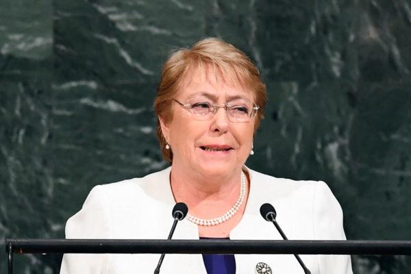 Bachelet denunció uno de los 'mayores y más graves retrocesos nunca vistos' de DDHH