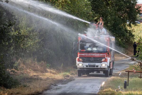 Temperaturas récord derriten el asfalto en Europa