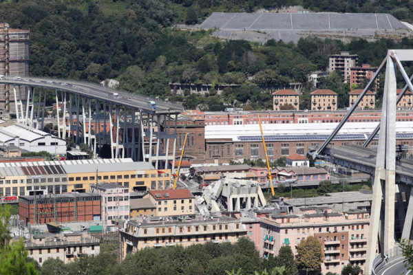 El puente que se derrumbó en Italia: dañado y costoso