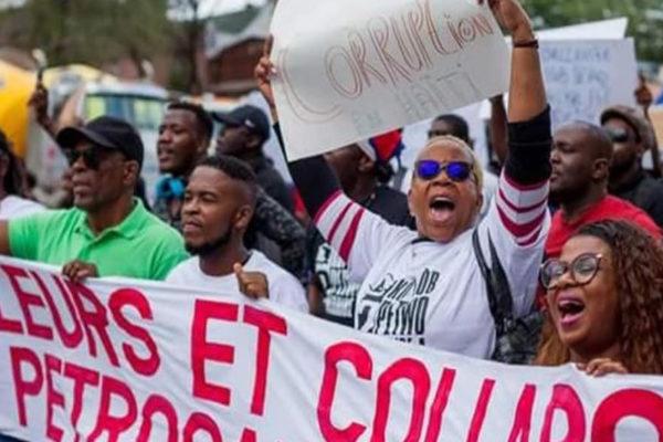 Haitianos marchan contra la administración de Petrocaribe