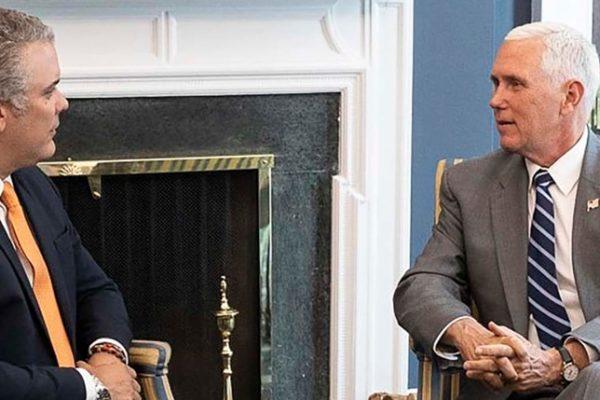 Duque y Pence acordaron «mantener la presión» contra Maduro