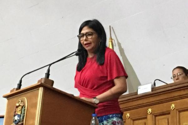Justicia europea decidirá si anula las medidas restrictivas contra Delcy Rodríguez