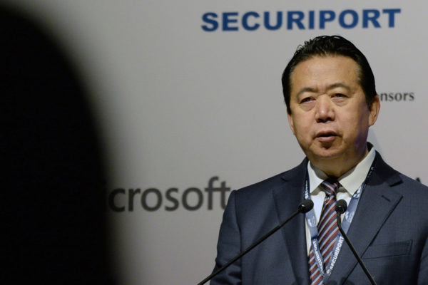 China acusa al expresidente de Interpol de aceptar sobornos