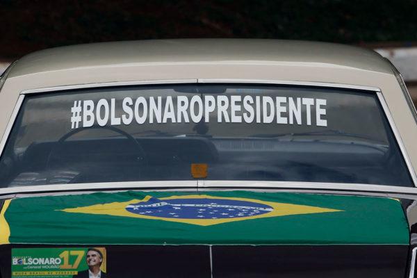 Optimismo sobre la economía brasileña sube tras elección de Bolsonaro