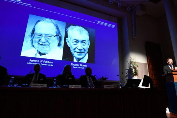 Allison y Honjo ganan Nobel de Medicina por aportes contra el cáncer