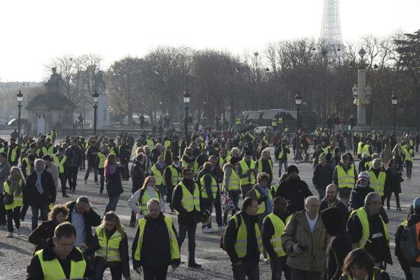 Disturbios esporádicos en la movilización de
