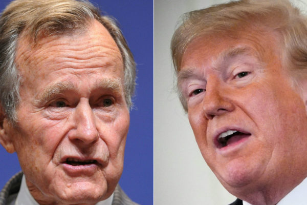 George Bush y Trump, el contraste de dos presidentes