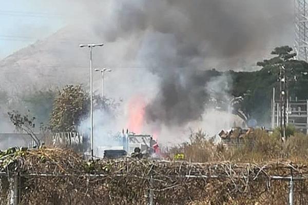 Un incendio en Aragua causó apagón en varias zonas del país
