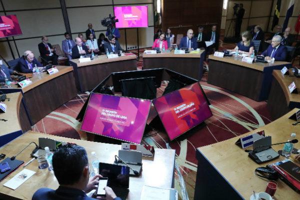 Grupo de Lima pide elecciones presidenciales ya o habrá más sanciones
