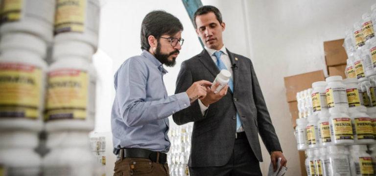 Miguel Pizarro y Juan Guaidó
