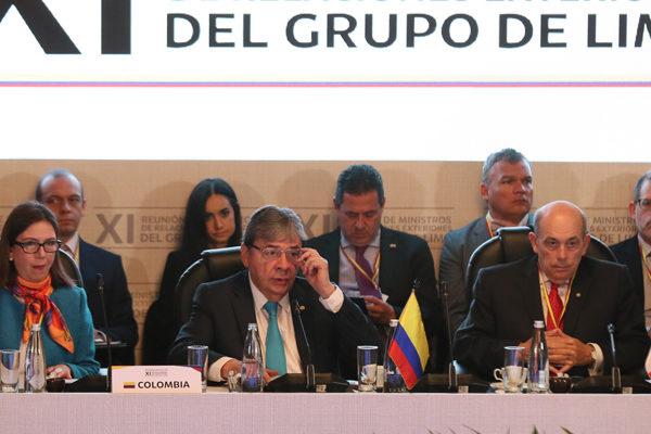 Grupo de Lima apoya transición democrática en Venezuela sin uso de la fuerza