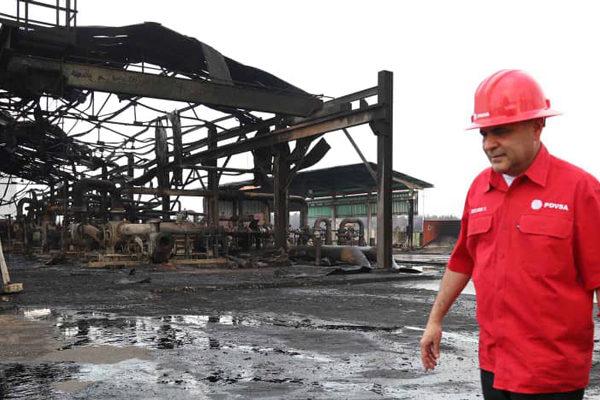 Pdvsa reporta incendio en una de sus instalaciones y culpa a la oposición
